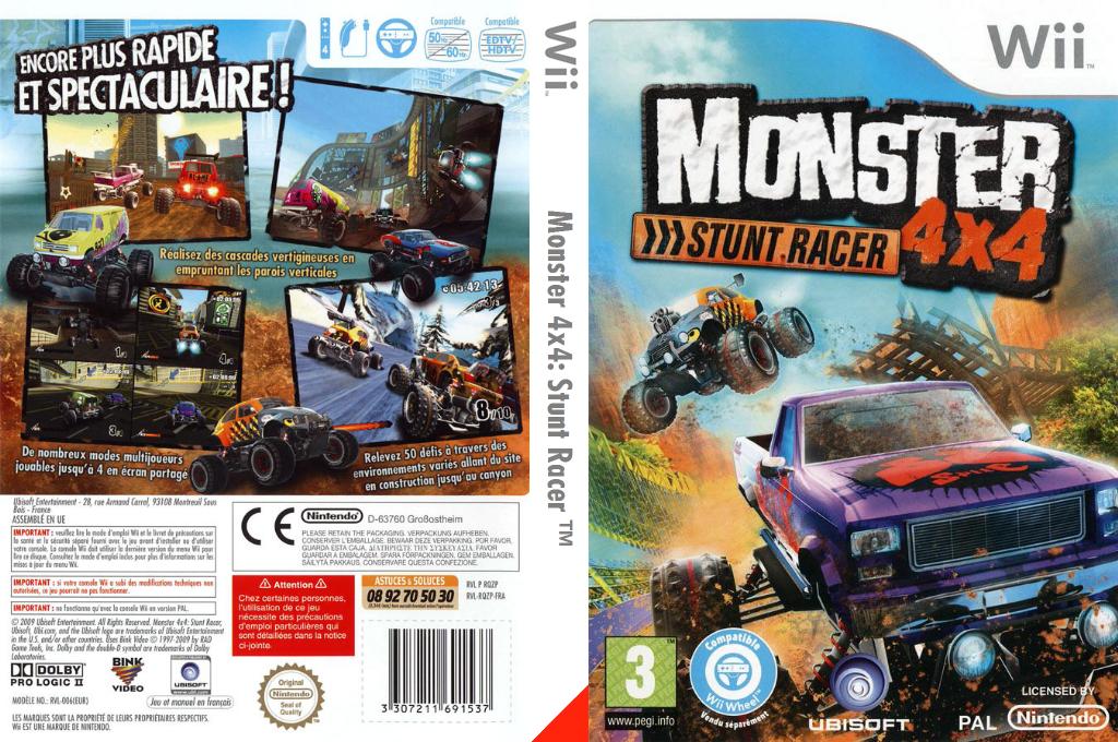 Monster 4x4: Stunt Racer Wii coverfullHQ (RQZP41)