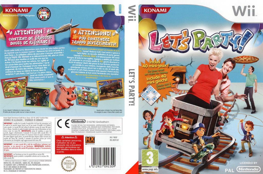 Let's Party! Wii coverfullHQ (RR3PA4)