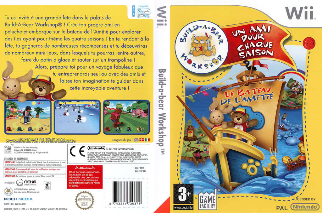 Build-A-Bear Workshop : Un Ami pour chaque Saison Wii coverfullHQ (RR4PFK)
