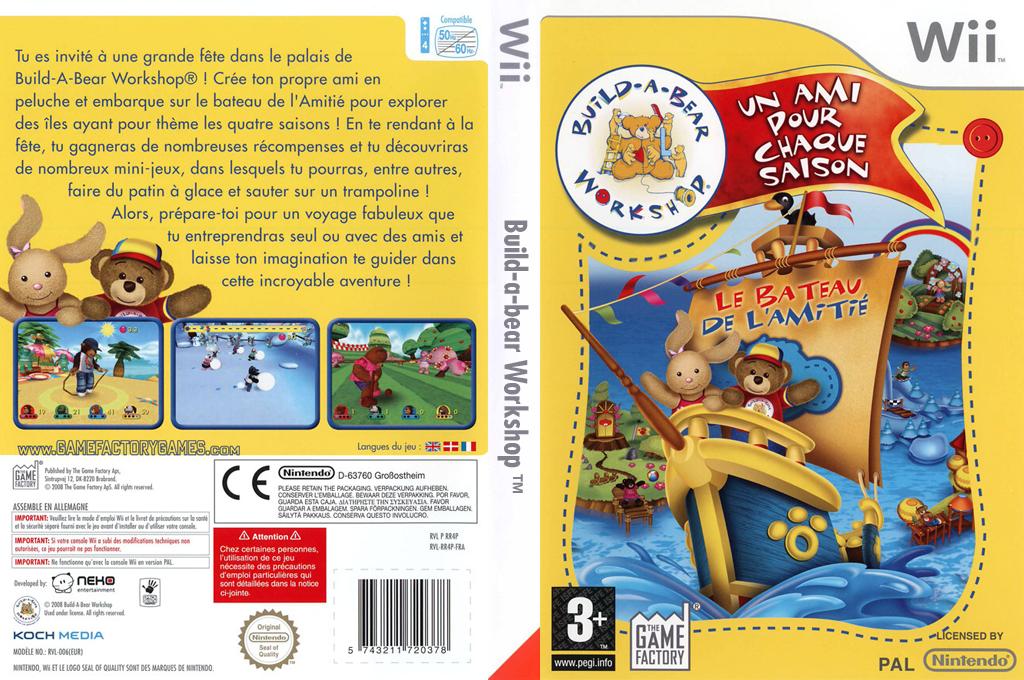 Build-A-Bear Workshop:Un Ami pour chaque Saison Wii coverfullHQ (RR4PFK)