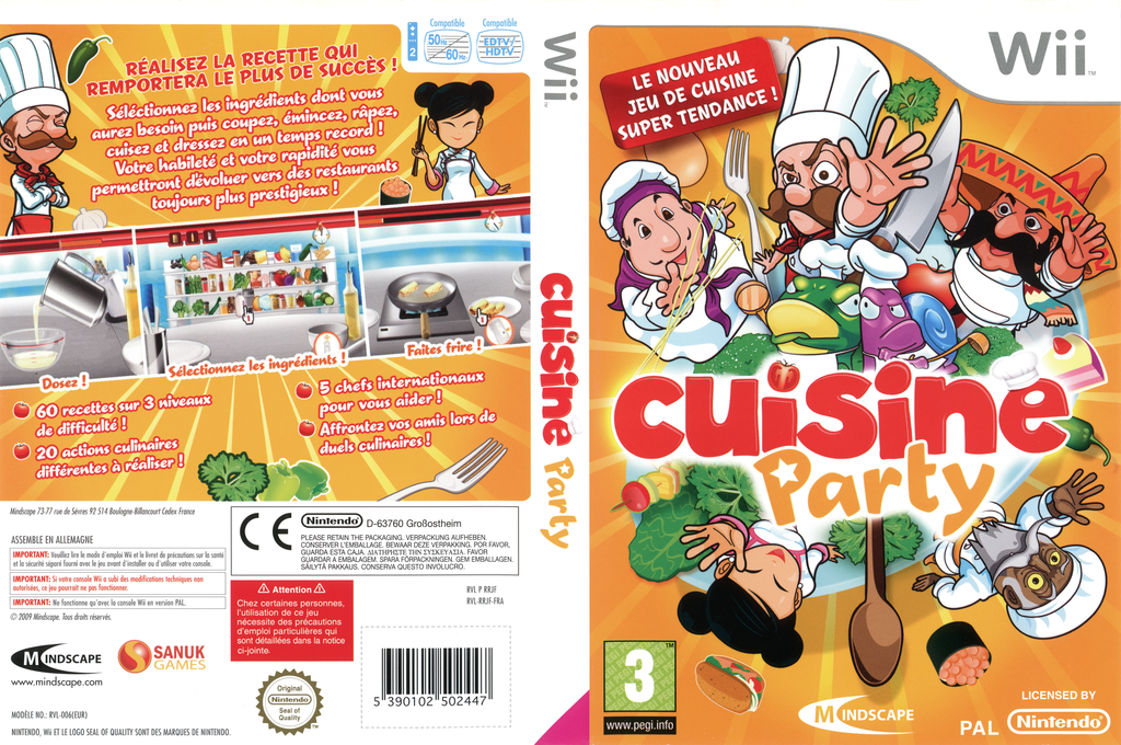 Cuisine Party Wii coverfullHQ (RRJFMR)