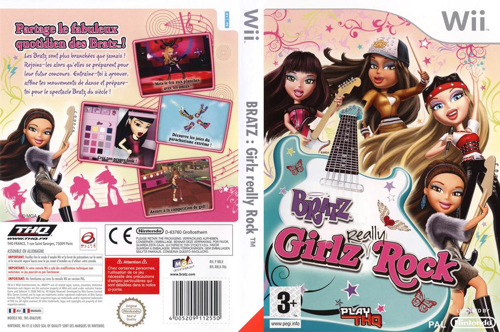 Bratz : Girlz Really Rock Wii coverfullHQ (RRLX78)