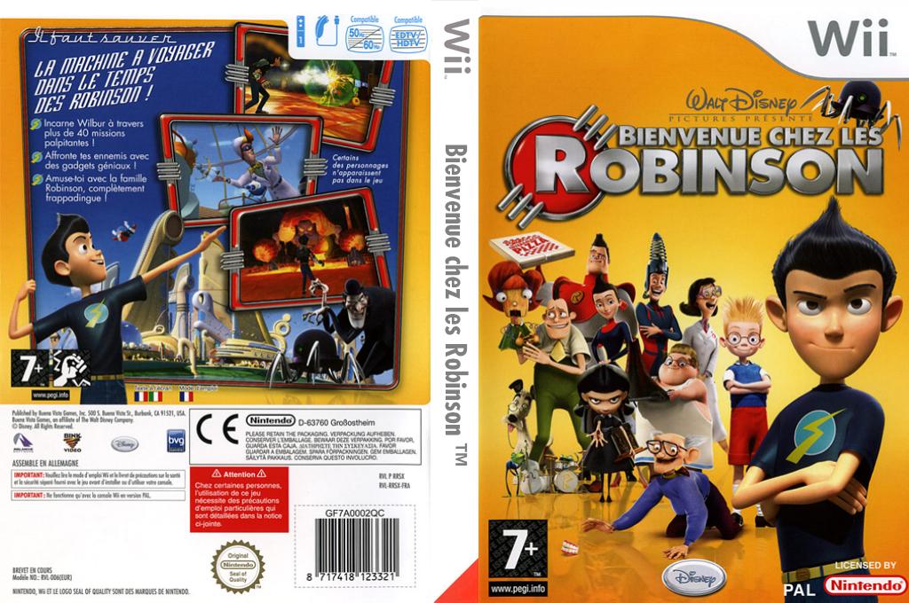 Bienvenue chez les Robinson Wii coverfullHQ (RRSX4Q)