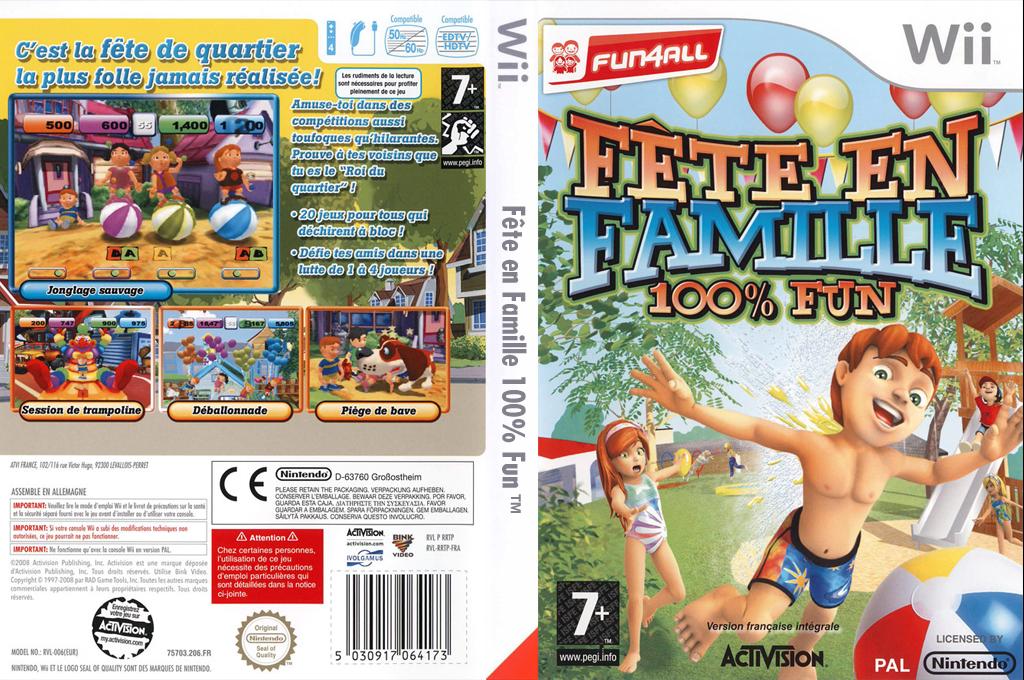 Fête en Famille 100% Fun Wii coverfullHQ (RRTP52)
