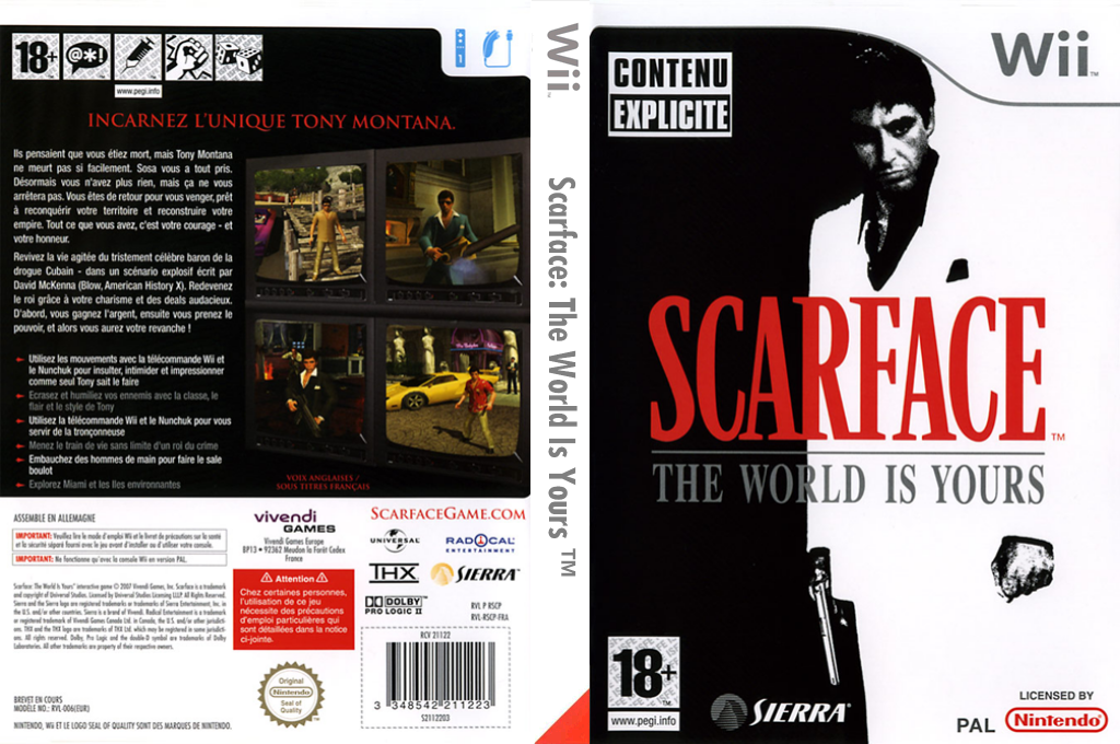 Scarface : The World Is Yours Wii coverfullHQ (RSCU7D)