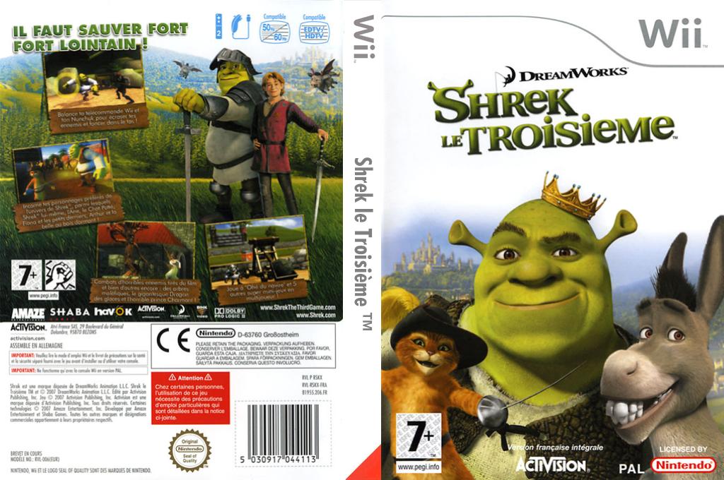 Shrek le Troisième Wii coverfullHQ (RSKX52)