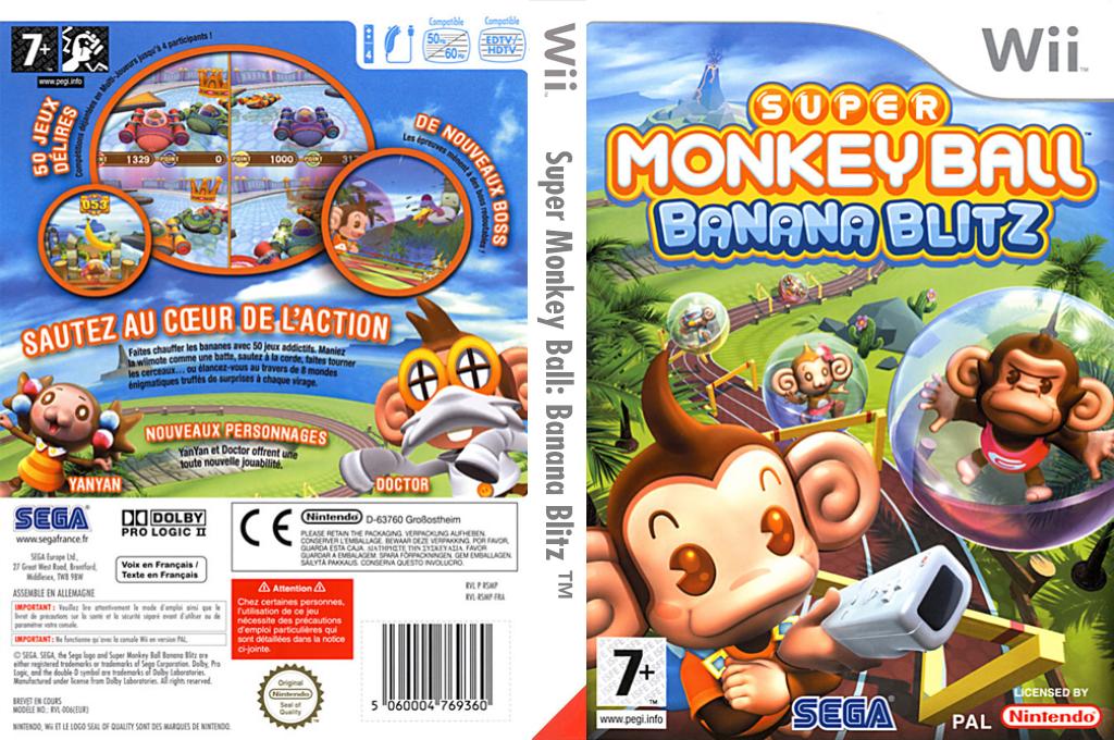 Super Monkey Ball:Banana Blitz Wii coverfullHQ (RSMP8P)