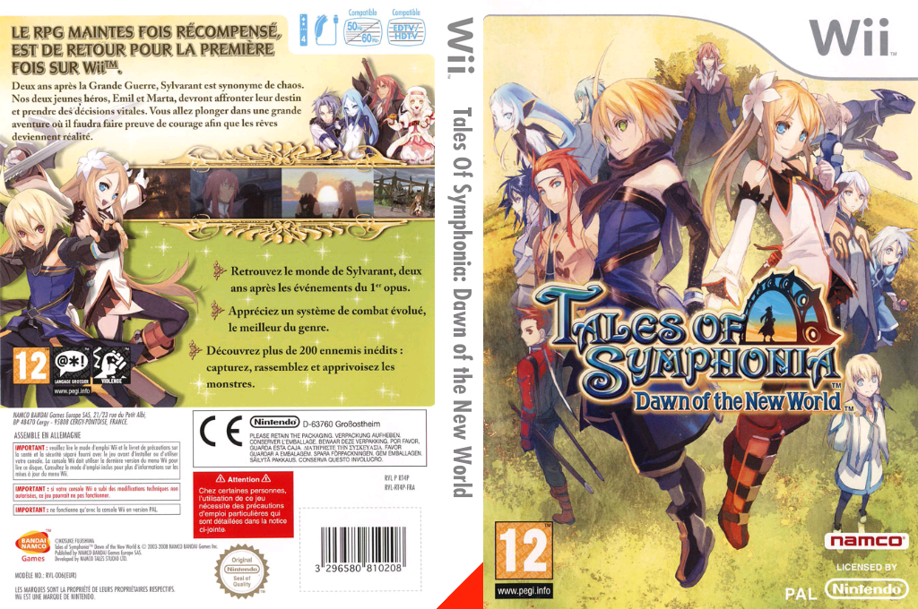 Tales of Symphonia : Dawn of the New World Wii coverfullHQ (RT4PAF)