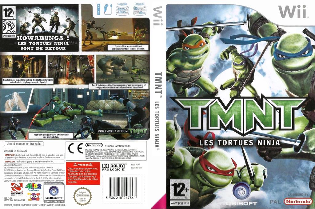 TMNT:Les Tortues Ninja Wii coverfullHQ (RTMP41)