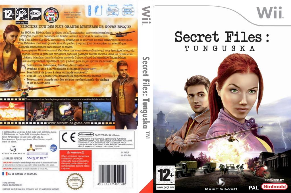 Secret Files : Tunguska Wii coverfullHQ (RTUPKM)