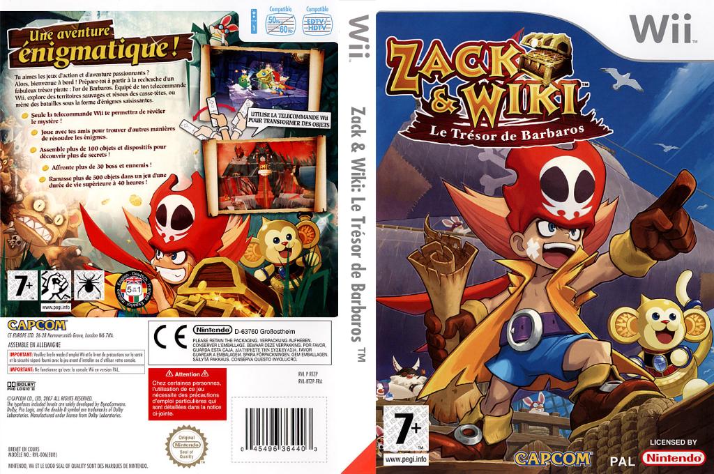 Zack & Wiki:Le Trésor de Barbaros Wii coverfullHQ (RTZP08)