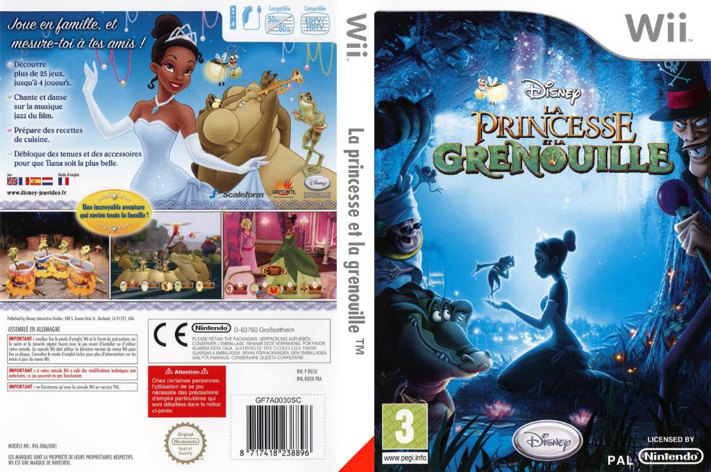 La princesse et la grenouille Wii coverfullHQ (RU5X4Q)