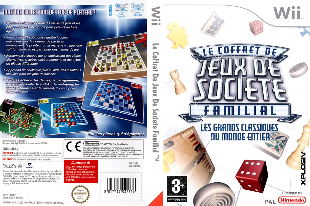 Le Coffret De Jeux De Societe Familial Wii coverfullHQ (RUBP7N)