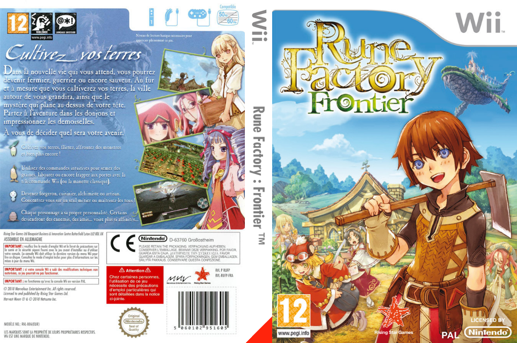 Rune Factory : Frontier Wii coverfullHQ (RUFP99)