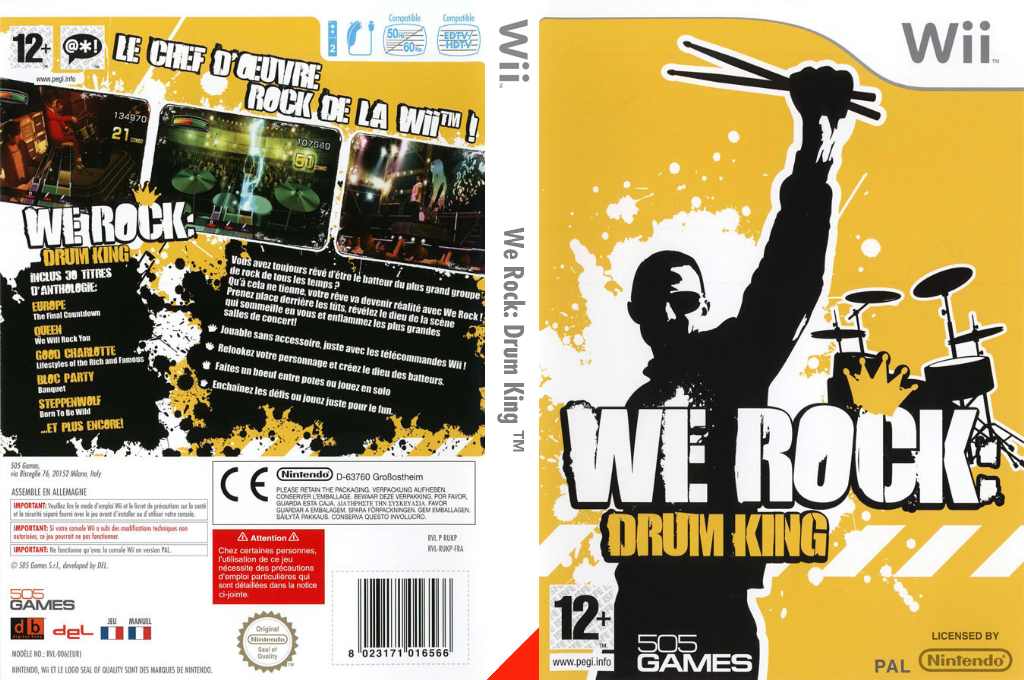We Rock:Drum King Wii coverfullHQ (RUKPGT)