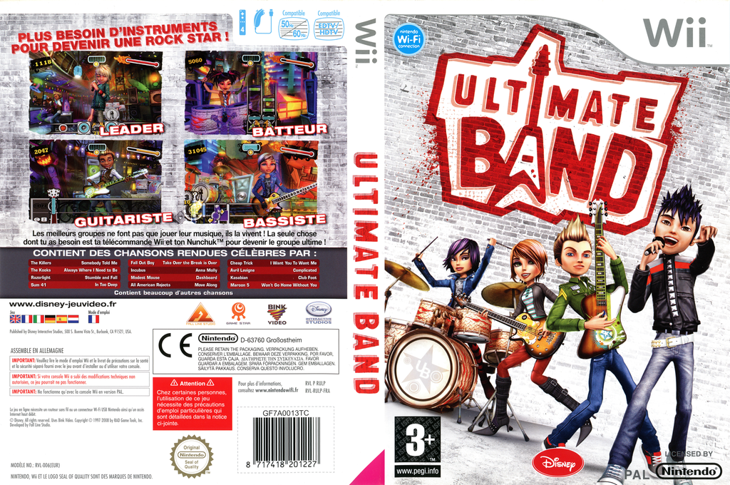 Ultimate Band Wii coverfullHQ (RULP4Q)
