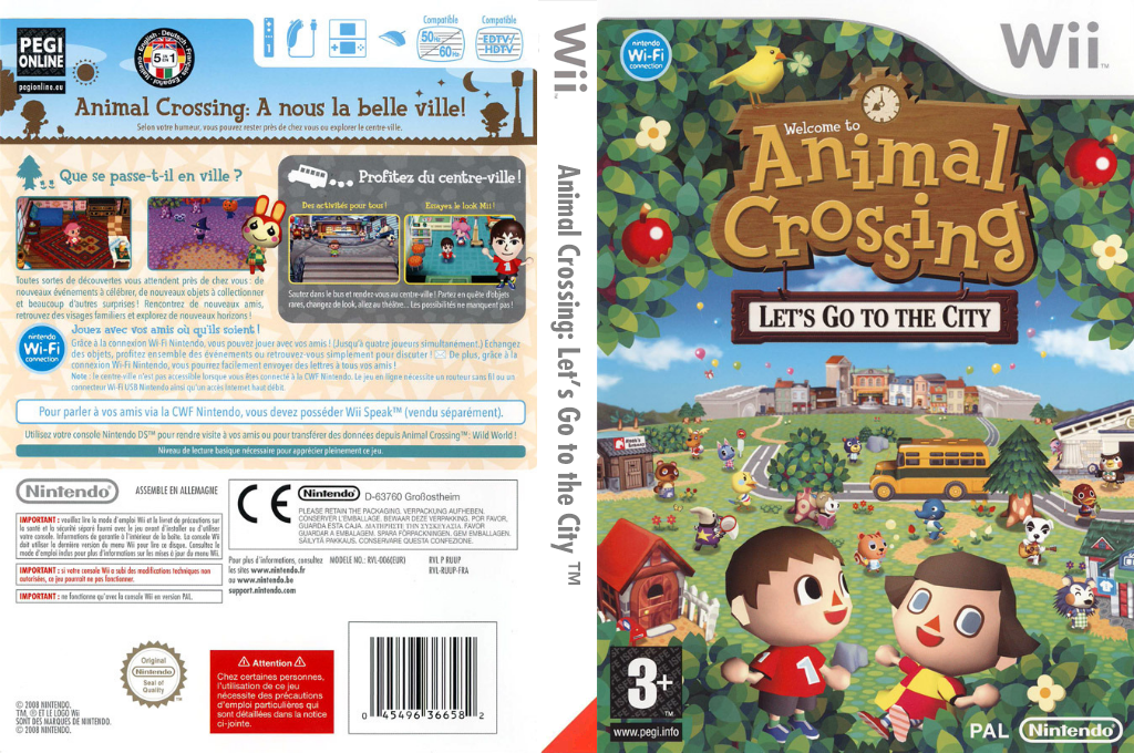 Animal Crossing : Let's Go to the City Wii coverfullHQ (RUUP01)