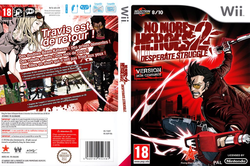 No More Heroes 2:Desperate Struggle Wii coverfullHQ (RUYP99)
