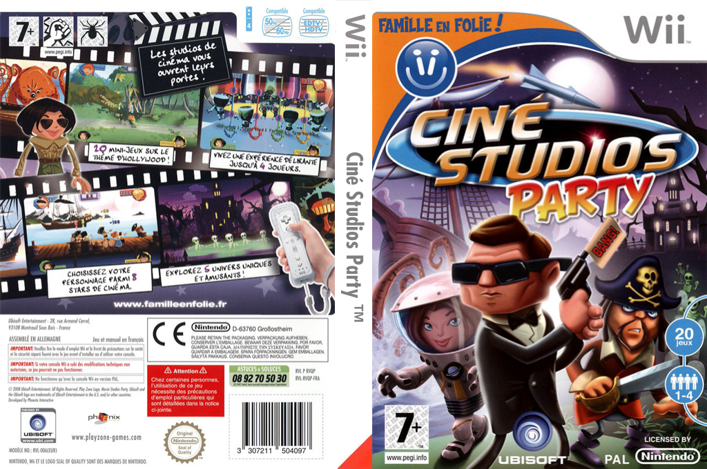Ciné Studios Party Wii coverfullHQ (RVQP41)