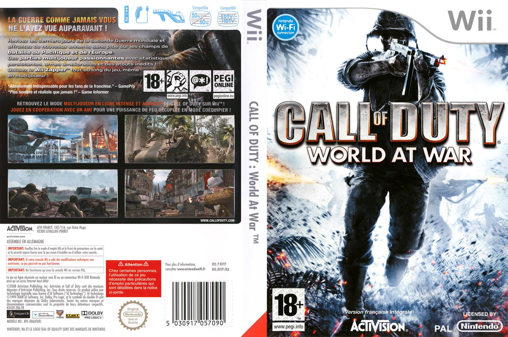 Call of Duty : World at War Wii coverfullHQ (RVYP52)