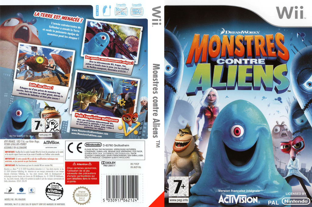 Monstres contre Aliens Wii coverfullHQ (RVZP52)