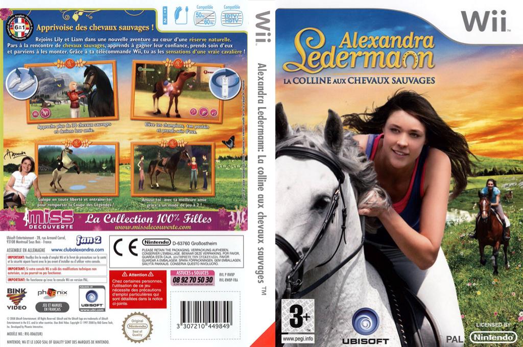 Alexandra Ledermann:La colline aux chevaux sauvages Wii coverfullHQ (RW8P41)