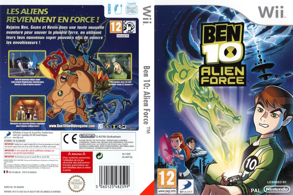 Ben 10 : Alien Force Wii coverfullHQ (RWTPG9)