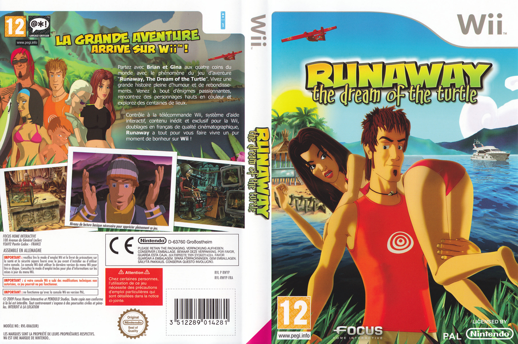 Runaway : The Dream of the Turtle Wii coverfullHQ (RWYPHH)