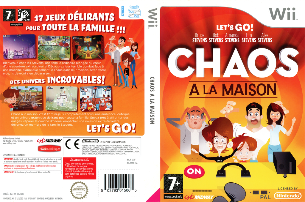 Chaos à La Maison Wii coverfullHQ (RXHF5D)