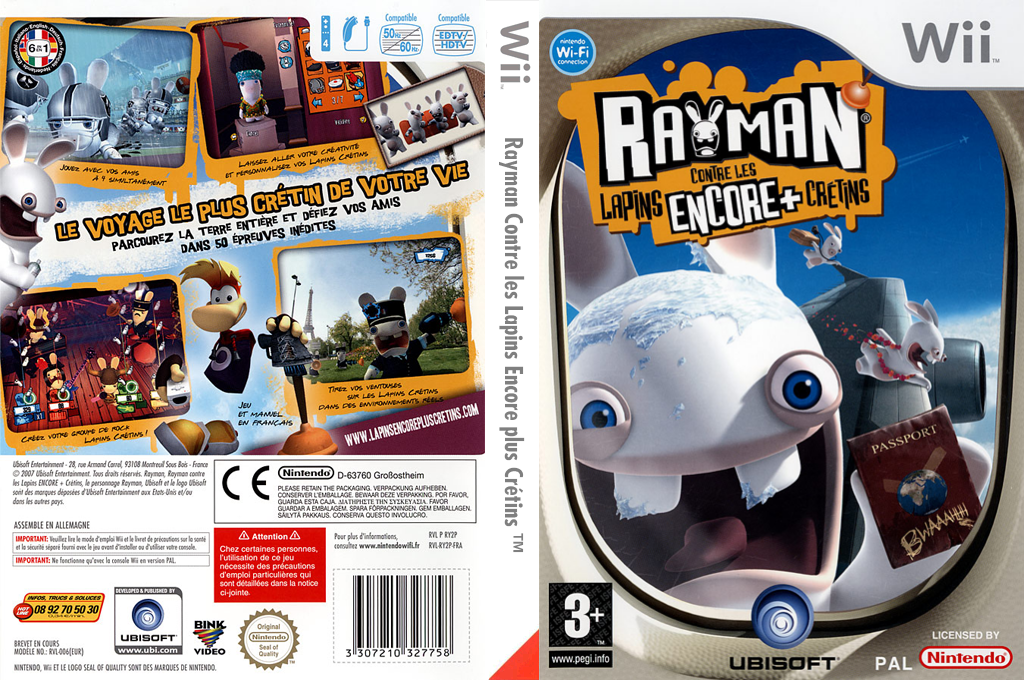 Rayman Contre les Lapins Encore plus Crétins Wii coverfullHQ (RY2P41)