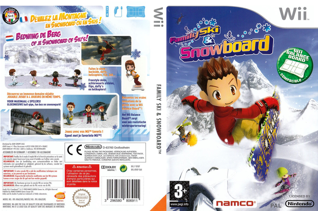 Family Ski & Snowboard Wii coverfullHQ (RYKPAF)