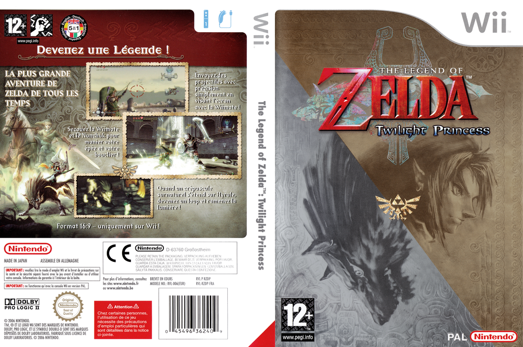 The Legend of Zelda : Twilight Princess Array coverfullHQ (RZDP01)