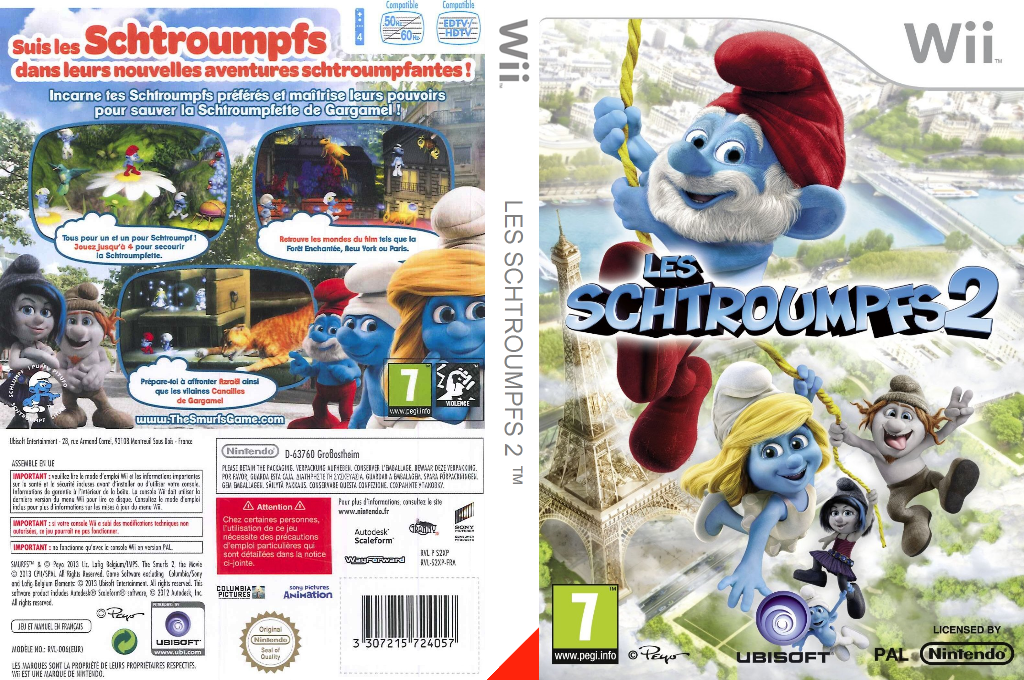 Les Schtroumpfs 2 Wii coverfullHQ (S2XP41)