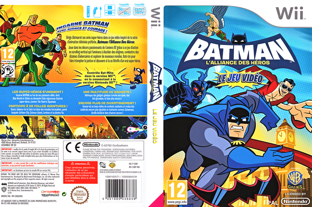 Batman: L'Alliance des Héros Wii coverfullHQ (S3BPWR)