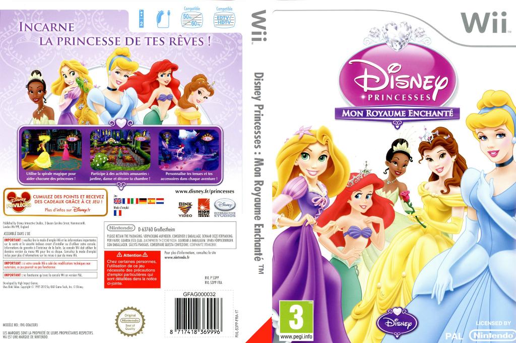 Disney Princesses:Mon Royaume Enchanté Wii coverfullHQ (S3PP4Q)