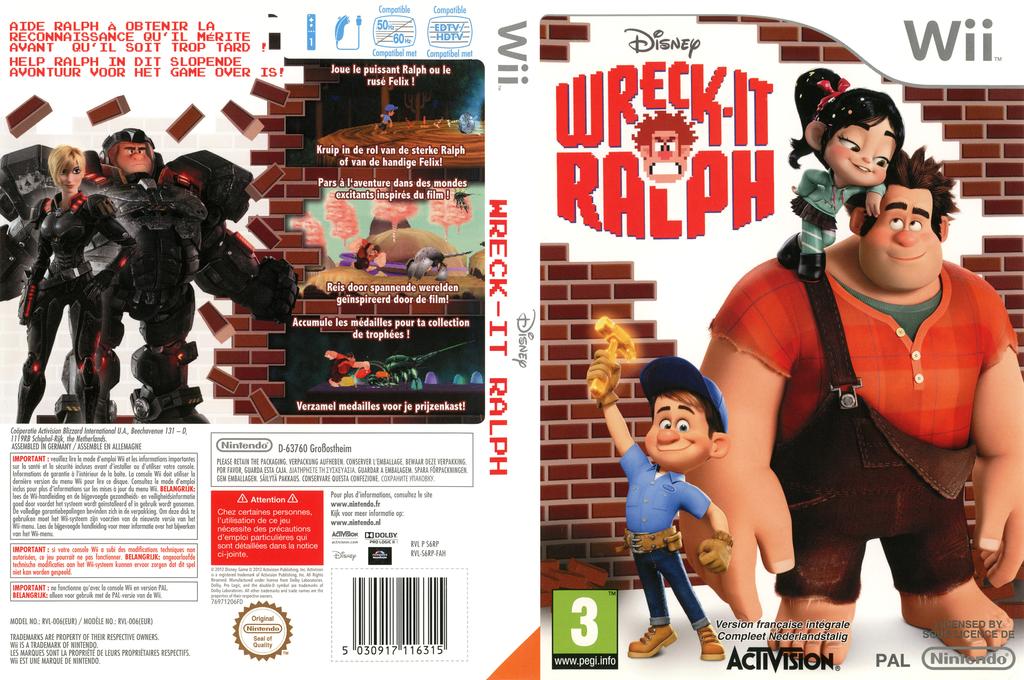Les Mondes de Ralph Wii coverfullHQ (S6RP52)
