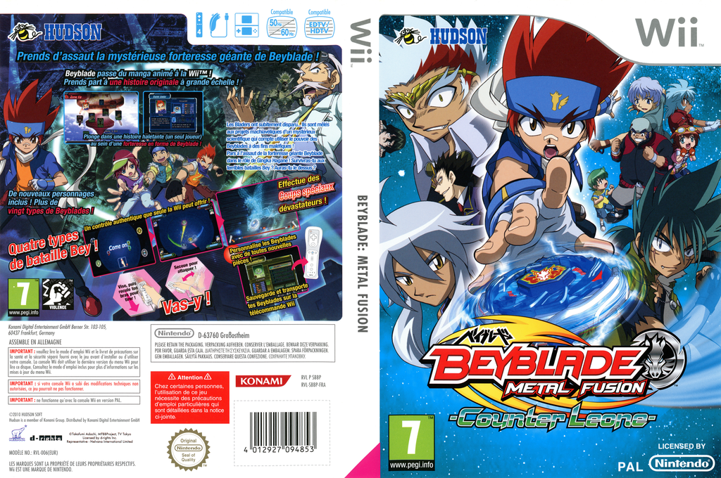 Beyblade:Metal Fusion - Counter Leone Array coverfullHQ (SBBP18)