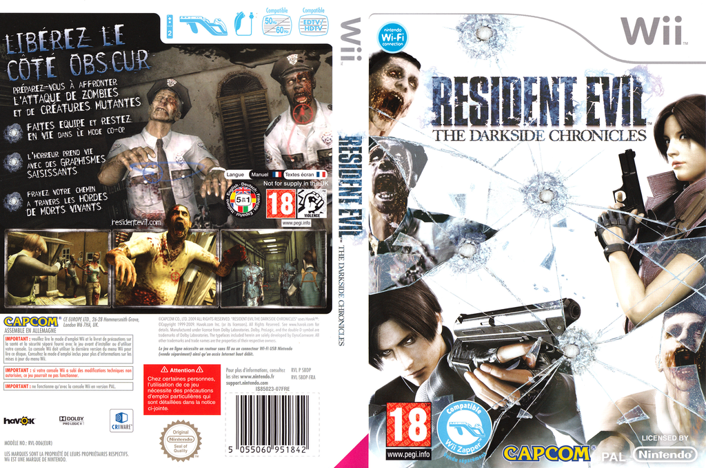 Resident Evil : The Darkside Chronicles Wii coverfullHQ (SBDP08)