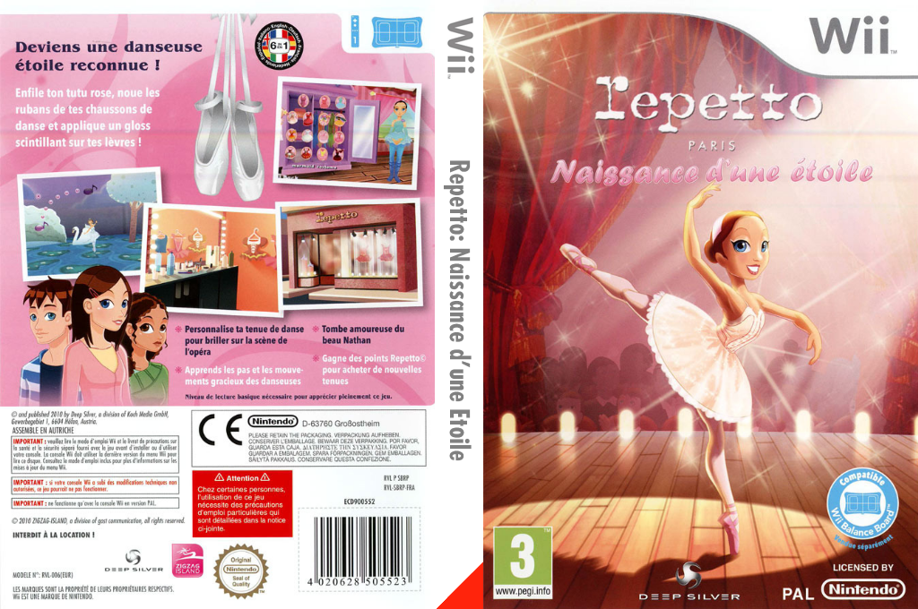 Repetto : Naissance d'une Etoile Wii coverfullHQ (SBRPKM)