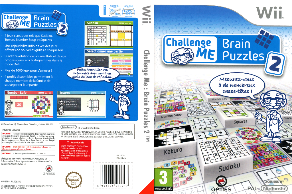 Challenge Me:Brain Puzzles 2 Wii coverfullHQ (SC6PGN)