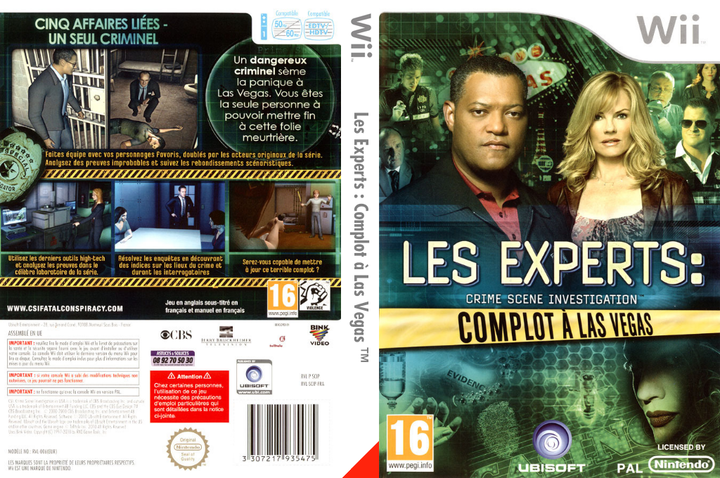 Les Experts:Complot à Las Vegas Wii coverfullHQ (SCIP41)