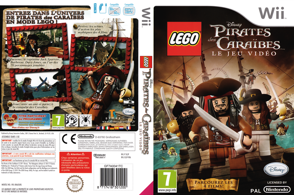 LEGO Pirates des Caraïbes :Le Jeu Vidéo Wii coverfullHQ (SCJP4Q)