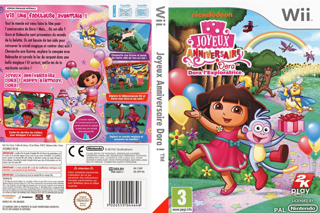 Joyeux Anniversaire Dora ! Wii coverfullHQ (SDPP54)