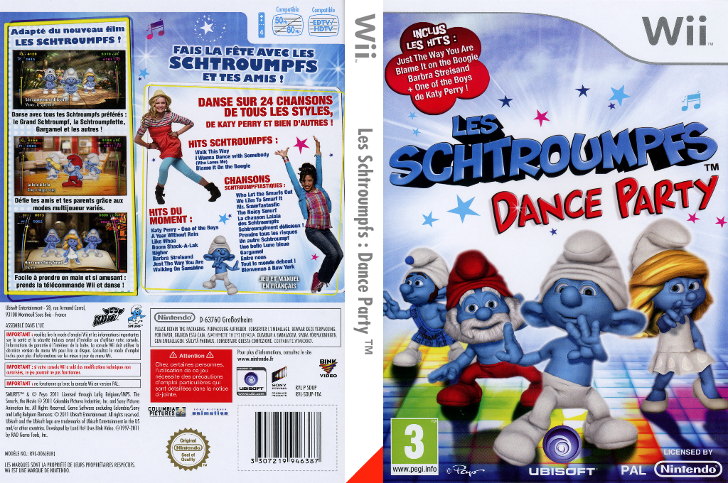Les Schtroumpfs: Dance Party Wii coverfullHQ (SDUP41)