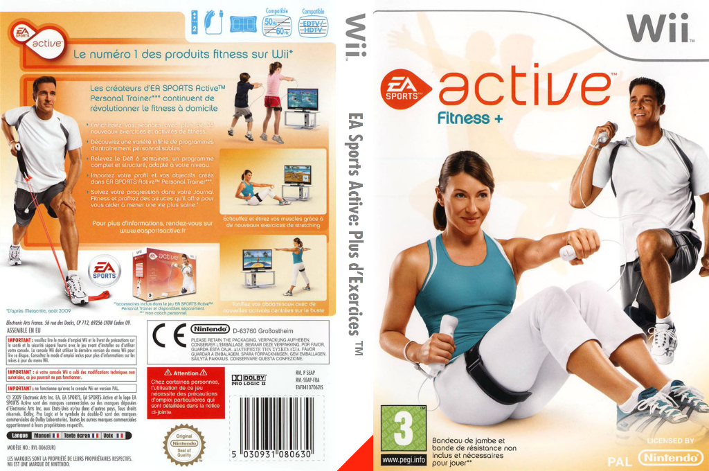 EA Sports Active : Plus d'Exercices Wii coverfullHQ (SEAP69)