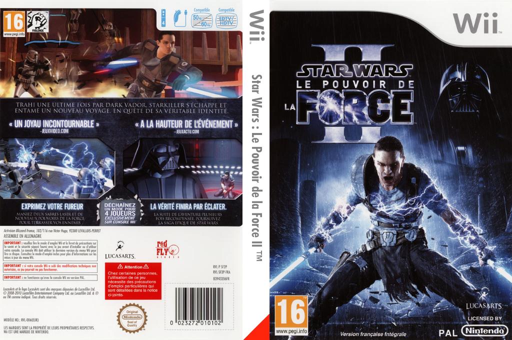 Star Wars : Le Pouvoir de la Force II Wii coverfullHQ (SF2P64)