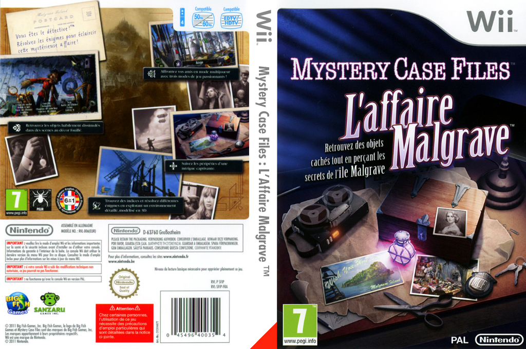 Mystery Case Files : L'Affaire Malgrave Wii coverfullHQ (SFIP01)