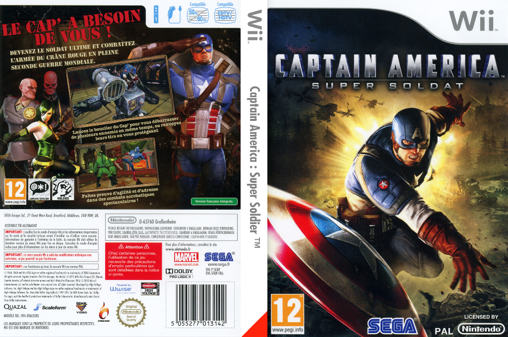 Captain America : Super Soldier Wii coverfullHQ (SFQP8P)