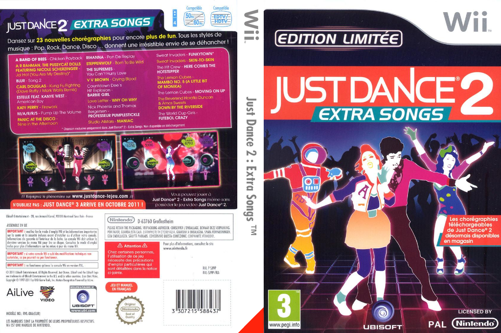 Just Dance 2 : Extra Songs Wii coverfullHQ (SJ9P41)