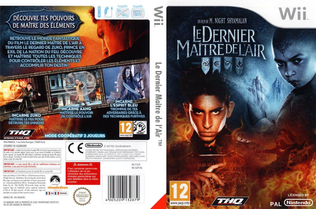Le Dernier Maitre de l'Air Wii coverfullHQ (SLAP78)
